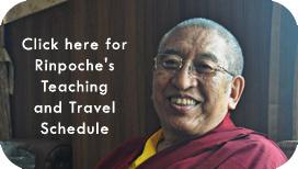 Rinpoche's Schedule